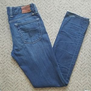 Lucky brand lola skinny blue denim 6/28 jeans